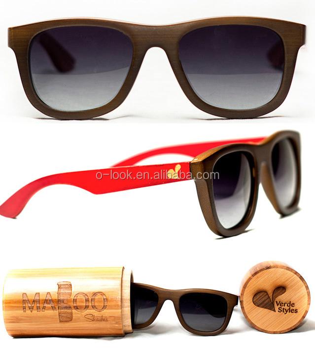 Uv polarizzato lente naturale di legno bambù
