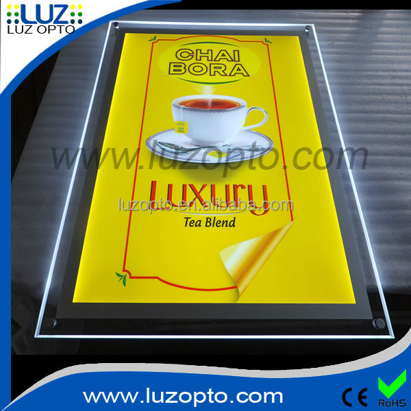 led picture box,acrylic sheet engraved light sign,plastic lighting box signs