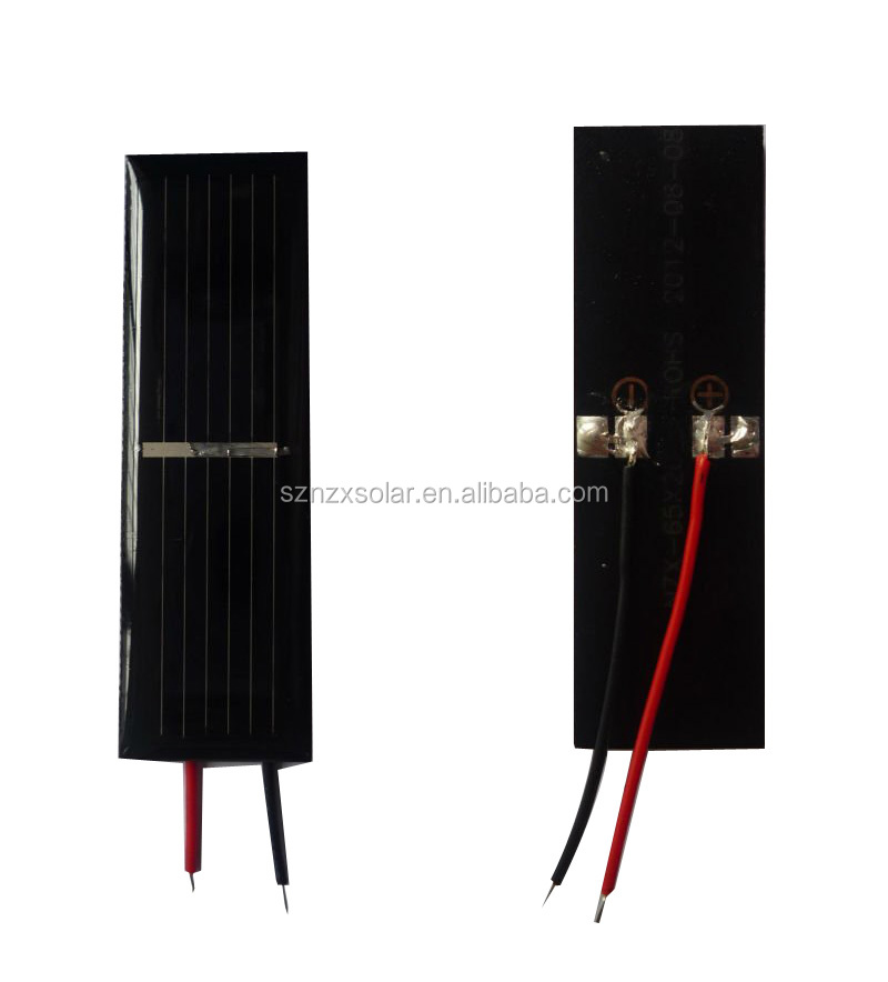 Custom Epoxy Resin 0.5V Small Solar Panel Price with Cable