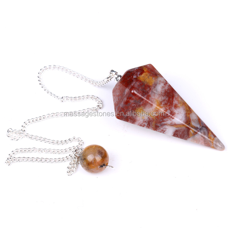 wholesale red jasper hexagon prism quartz crystal points