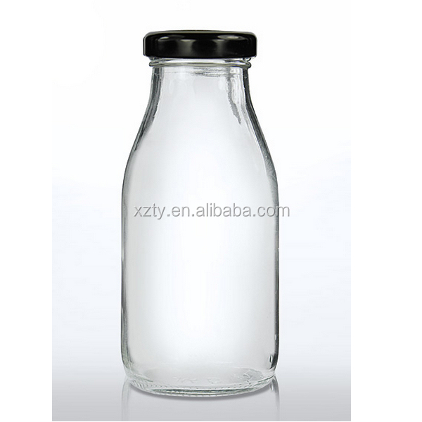 250ml Round Clear Glass Juice/Dressings Bottle , beverage bottle round shape