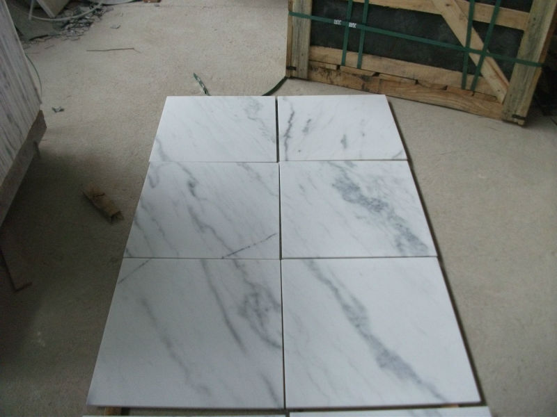 Oriental white marble tiles from China factory