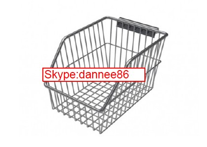 Chrome Wall Panel Wire Mesh Basket for Hospital Use
