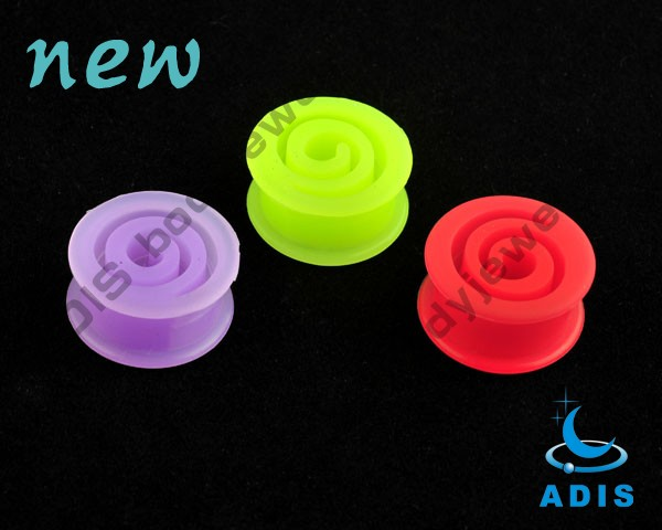 saddle silicone plugs ear expander body jewelry silicone ear plugs
