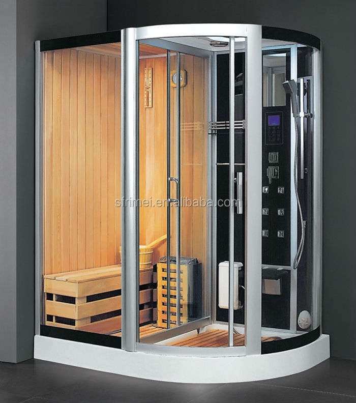K-7114A (L/R) Tempered Glass Steam Shower Room Sauna And Steam Combined Room