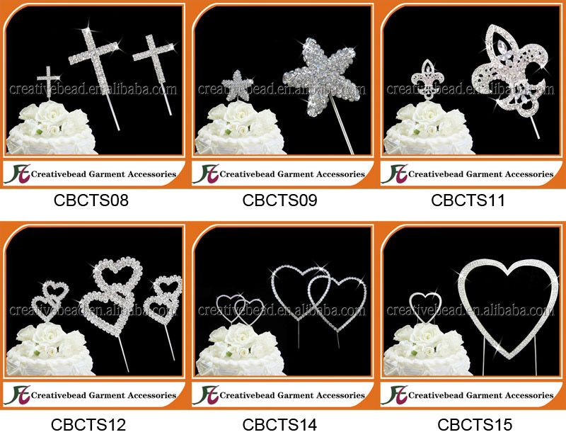 Wholesale Elegant Bowknot Rhinestone Cake Topper for Wedding Decoration