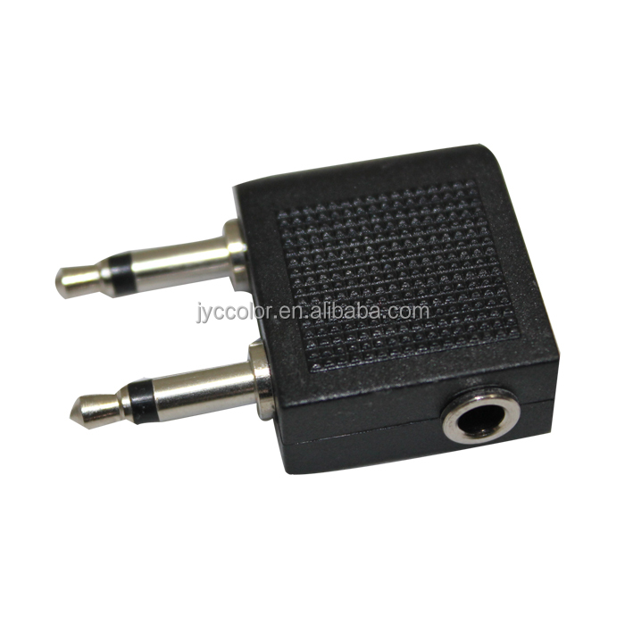 active noise canceling headphone	,	new injection 3.5mm jack stereo headphone adaptor for airplane socket golden H0T013