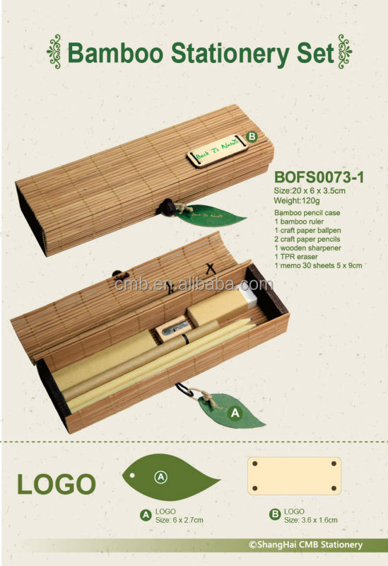 Bamboo Stationery Set for Office Gift