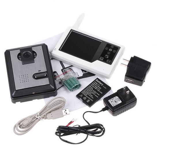 3.5 inch 2.4G wireless color video door phone intercom system