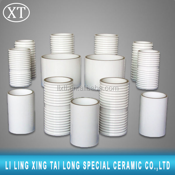 Moly-Manganese/MoMn Metallized Alumina Ceramics tube part For Electrical Application