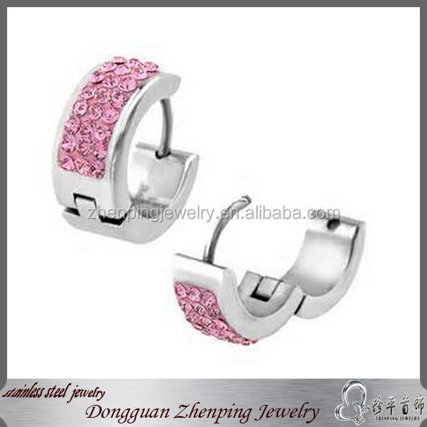 Surgical grade stainless steel earring ,stainless steel jewelry wholesale huggie earring