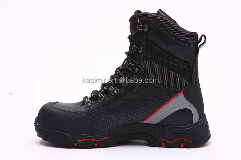 Genuine leather steel toe safety shoes waterproof safety boots for mens s3
