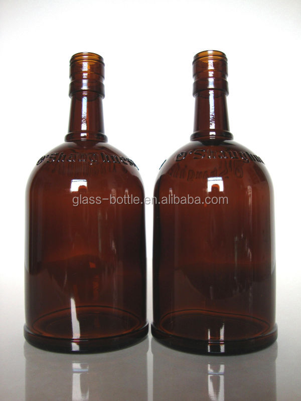 500ml Brown color glass wine bottles