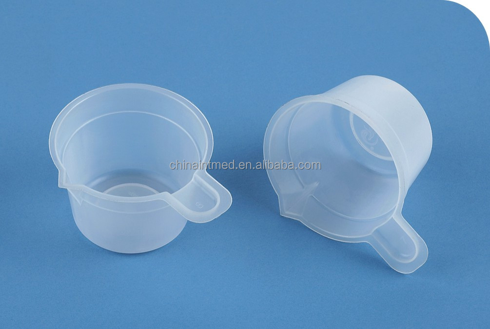 disposable sterile plastic urine cup