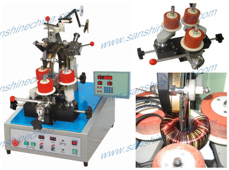 (SS300-01) gear type automatic big toroid coil winding machine