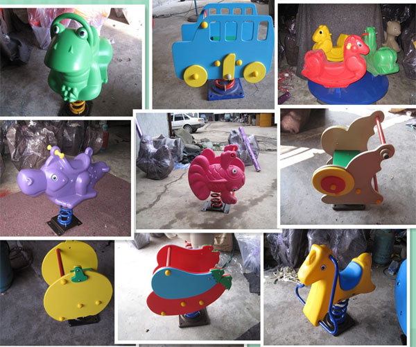 Plastic animal rocker spring toy