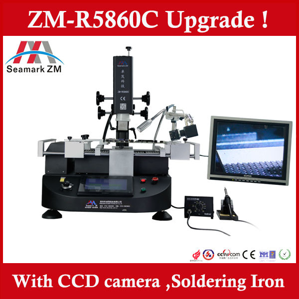 Here is Original Zhuomao Factory ! Hot sale ZM-R5860C BGA Rework station with camera monitor for laptop motherboard repair