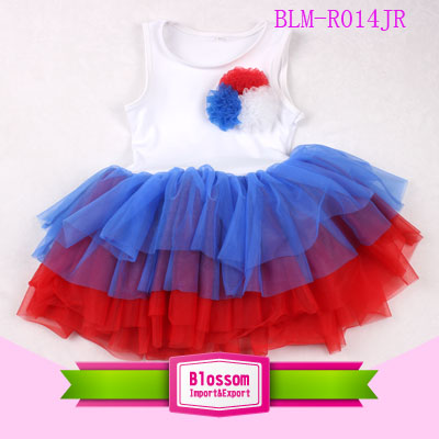 Baby Girl Party Dress Children Frocks Design Red Stripe Tutu Dress 2017 New Design Fashion Baby Girls Dress Children Clothes