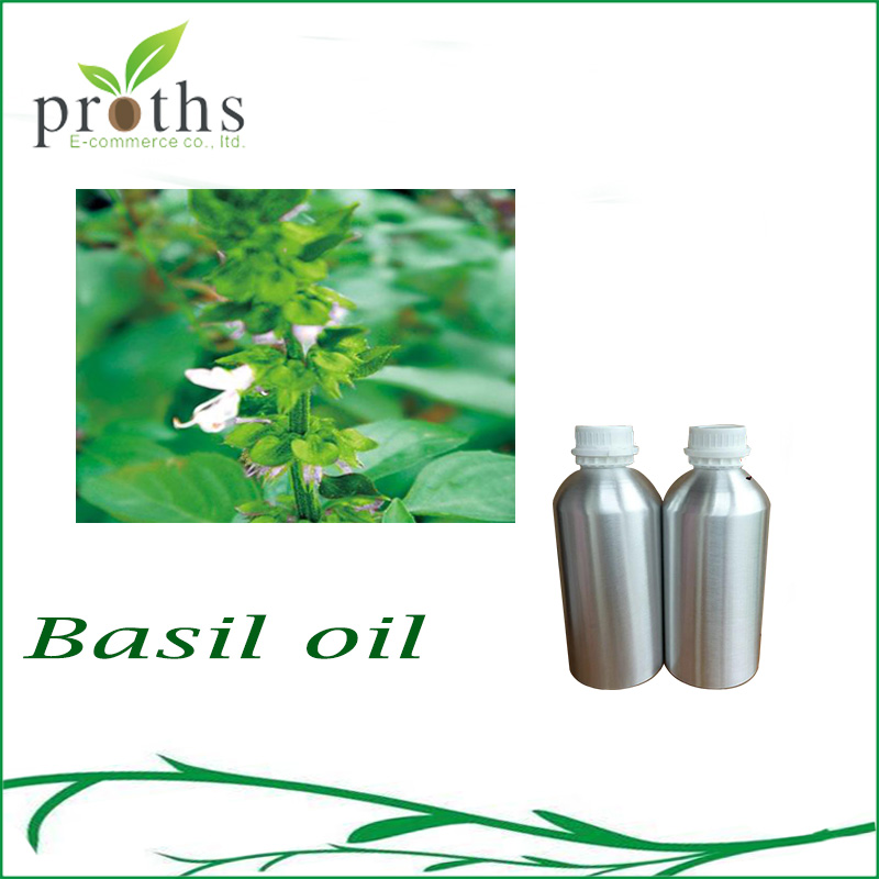 Best offer 100% natural basil essential oil