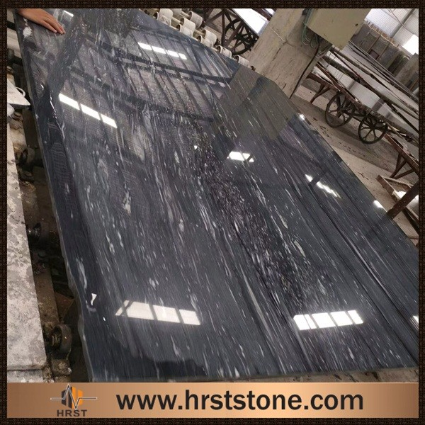 Chinese natural marble stone Diamond Fall black marmol slab