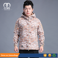 Factory direct sale new style cheap army softshell jacket for men