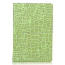 Crocodile skin stand leather case pouch for ipad mini 4, Flip PU case for ipad mini 4