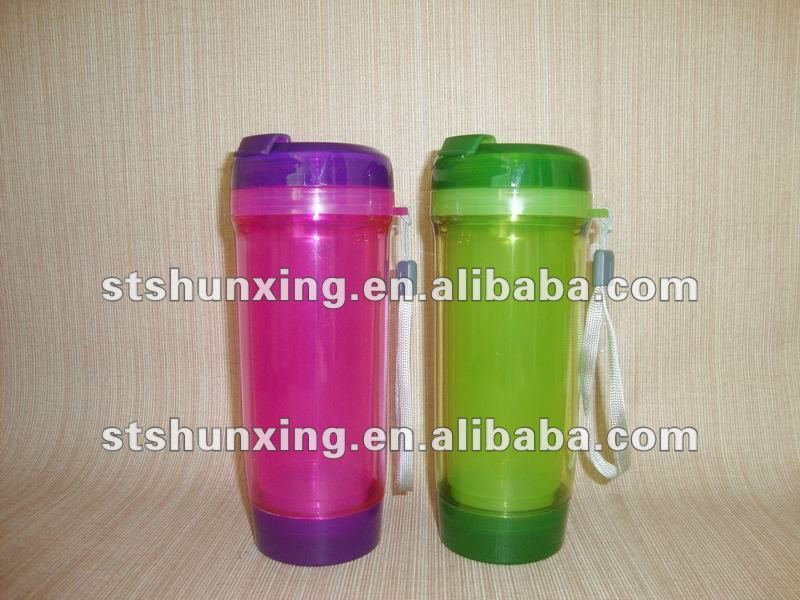 best selling leakproof double wall water plastic milk bottle from china factory