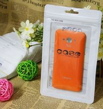Custom plastic poly bag for iPhone Samsung Cell Phone Case