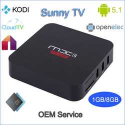 OEM custom firmware android tv box G5 s905 android 5.1 lollipop 16.1 kodi tv stick with remote mxs plus 2016 best android tv box