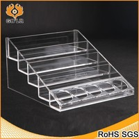 clear acrylic jewelry display box step stand