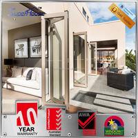 luxury Australian standard wind proof aluminum garden accordion patio doors