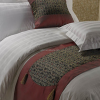 100 Cotton 300TC Jacquard White Hotel