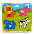 Jungle Animal Knob Wooden Puzzles