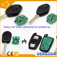 Universal Wholesale Auto Keys Series Accessory Leather Case Cover Shell 868mhz Blank Remote Car Key for BMW E46 E60 E90