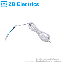 ac power cord cable 220v eu 2 pin power plug with figure 8 power cord
