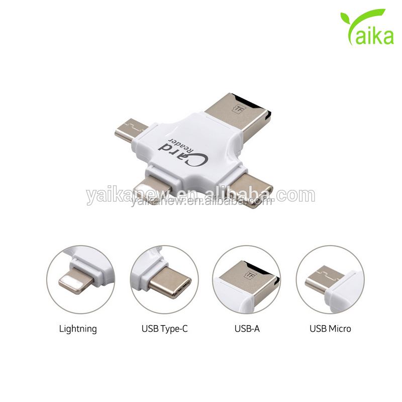 Yaika Newest High Speed All in 1 Type C Card Reader for iPhone Android Smart OTG Card reader