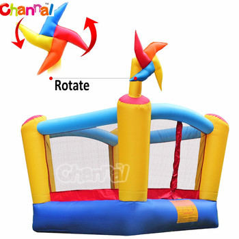 inflatable mini bouncer nylon bouncy castle bounce house with slide for kids
