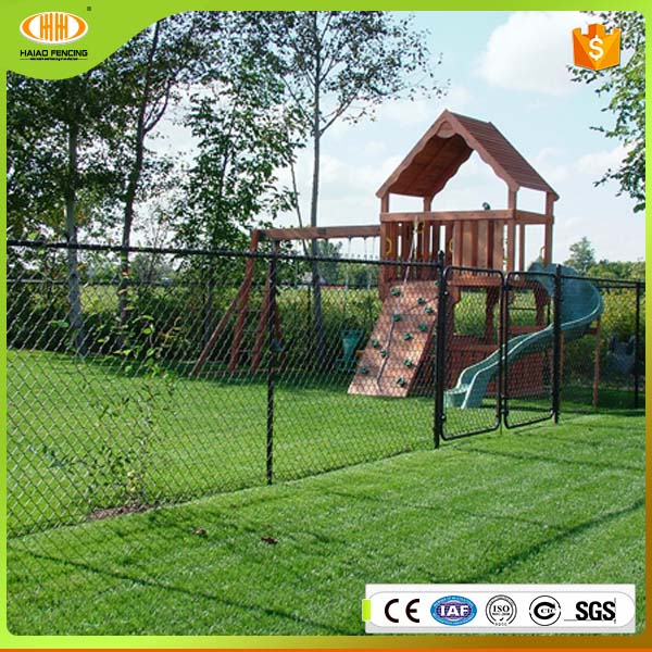 low price high quality china supply dark green pvc coating chain link fence