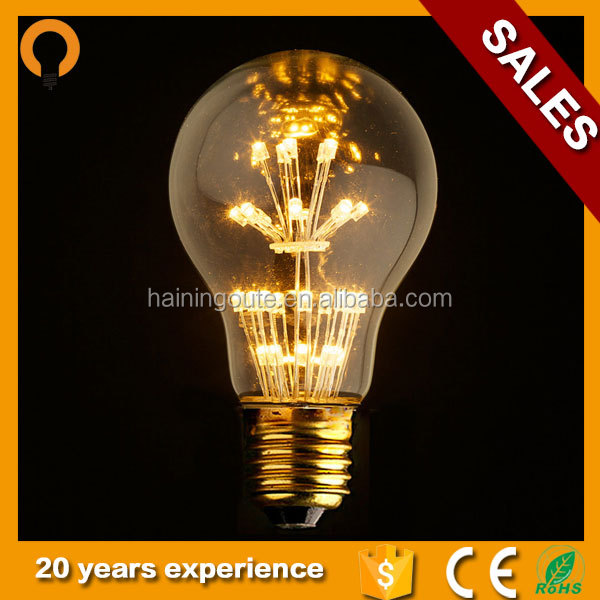 Globe 360 degree Starry Decorative LED filament Bulb