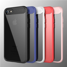 Phone accessories new clear PC TPU mobile phone back cover colorful bumper case for iPhone 7 / 8