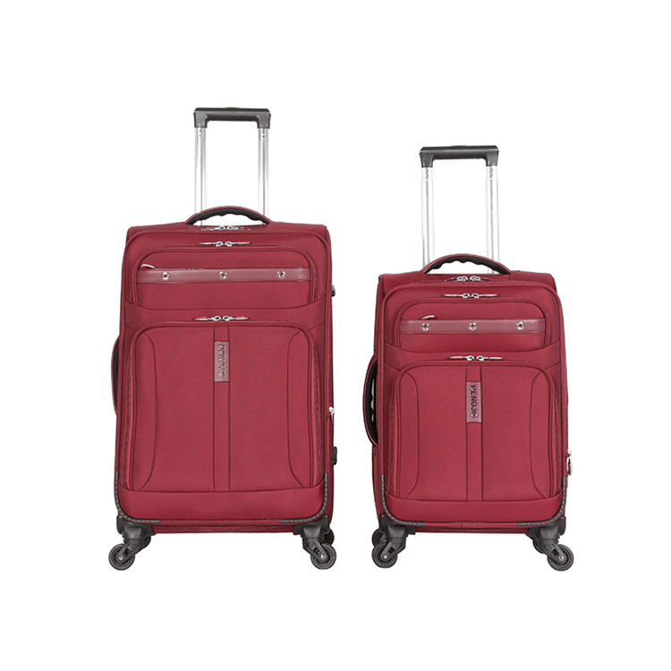 Most fashionable lightweight fabric trolley bags luggage wholesale