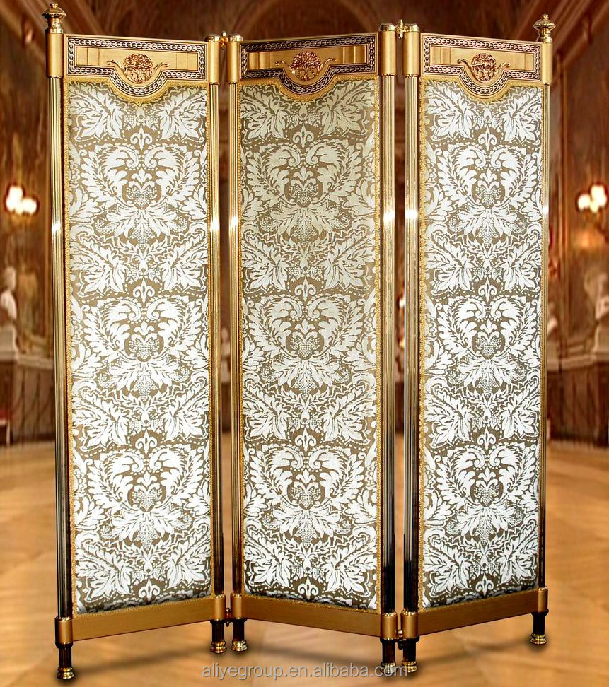 Aas810 classic luxury and decorative folding screens accordion living room partition wall - Decorative partitions room divider ...