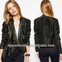 China supplier womens fashion 2014/leather motorcycle jacket custom
