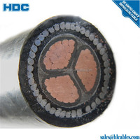 copper/aluminum conductor low voltage pvc insulated 3 core power cable