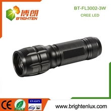 Portable Best Aluminum alloy material 3*AAA battery adjustable focus led flashlight with 3 watt