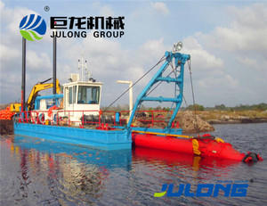 Good quality dredging barge and river sand dredger