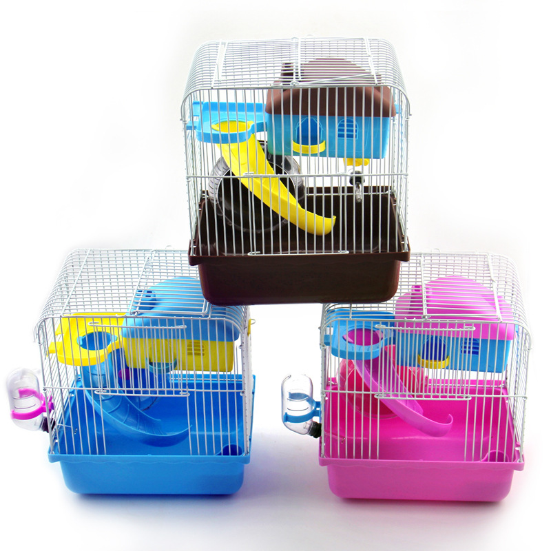 Pet accessory metal mesh small hamster cage for small wholesaler