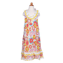 new trendy sleeveless maxi dress for kids casual floral layers cotton dress long nightdress