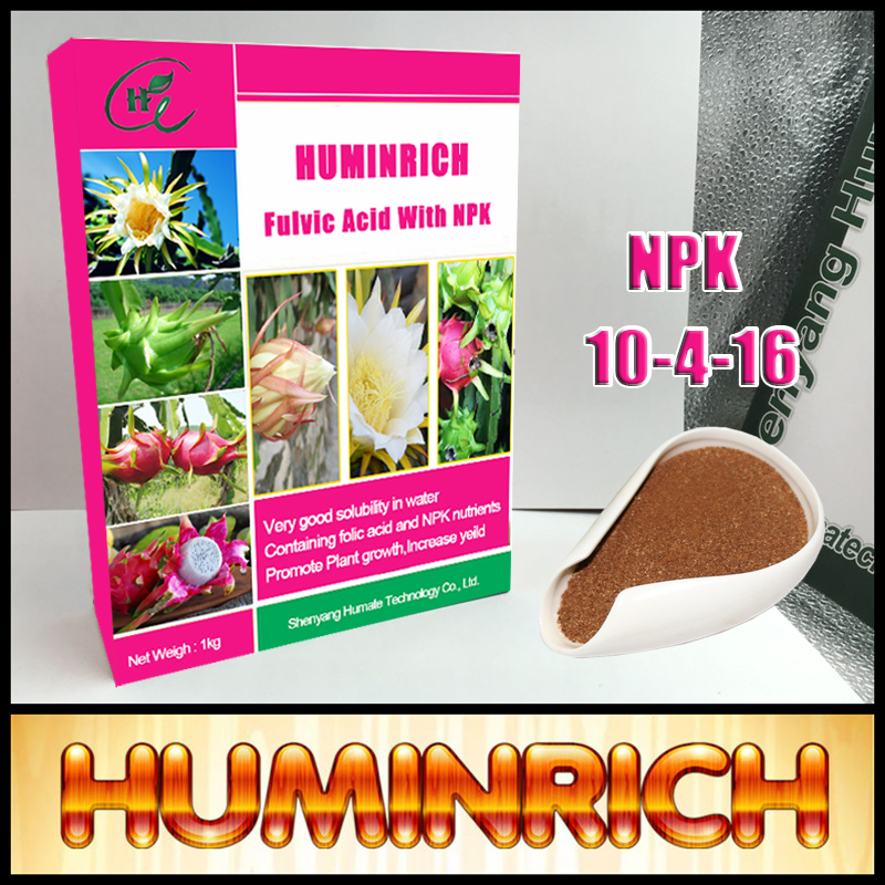 HUMINRICH 45% Fulvic Acid Organic Water Soluble Fertilzer NPK