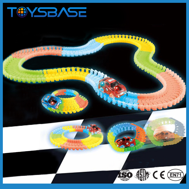 New Products Electric Race Track Toy Glow Track Set Stunt Track Car Toy